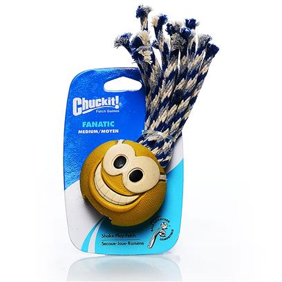 Canine Hardware Presents Chuckit Fanatic Tennis Medium. Chuckit Compatible. Made with Rugged Natural Cotton Rope and Durable Natural Rubber. Tennis [20258]