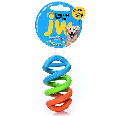 Jw Pet Company Presents Dogs in Action Dna Small. Jw Pet Always Remembers the Little Guys &amp; Gals. The Small Dogs in Action (Dna) is a Miniature Version of the Original Dogs in Action with all of the Fun and Durability of the Original Miniaturized for the Little Dog with a Big Ego. This Helix of Pliable, Stretchable Rubber in a Rainbow of Vibrant Colors can be Used as a Tug Toy, and has the Durability to be Used as Chew Toy. [20284]