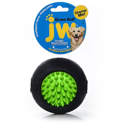 Jw Pet Company Presents Jw Pet Company (Jw) Toy Grass Ball Large. The Grass Ball Small is a Tough Rubber Dog Toy Infused with Vanilla Extract that is as Versatile as it is Fun! This Innovative Ball is Super Durable and Double-Molded to Stand Up to Tough Chewers. The Spiked Top and Bottom Makes the Grass Ball a Top Choice for Teeth Cleaning, and the Smooth Sides Make it an Excellent Fetch Toy. The Openings on Each Side Allow the Grass Ball to be Used as a Treat Ball Too! Color Assorted Inner Qty 12 Case Qty 288 [20294]