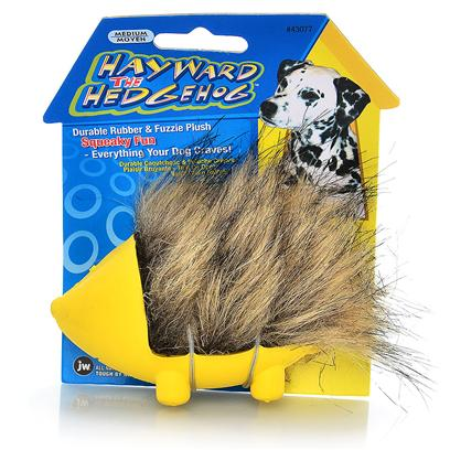 Jw Pet Company Presents Hayward the Hedgehog Rubber Toy Jw Medium (Md). Hayward the Hedgehog is an Exciting New Combo Toy from Jw Pet - Soft, Fuzzy, Squeaky Plush Combined with a Tough Natural Rubber in a Classic, Top-Selling Animal Shape that Dogs Love! This Squeaky and Soft yet Strong Toy is Available in Assorted Colors and Sizes. Hayward the Hedgehog is Perfect for the Dog who Wants (and Deserves) it All! [20298]