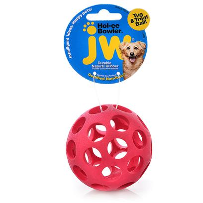 Jw Pet Company Presents Holee Bowler Model D Small/Petit Dogs &amp; Puppies. Available in Assorted Colors Use Ball with or without their Favorite Treats Tucked Inside Made of 100% Natural Rubber from Rubber Trees and Infused with Natural Vanilla Extract, it is Safe, Tough and so Popular with Consumers Made for Small Dogs and Puppies [20300]