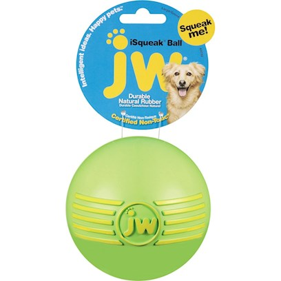 Jw Pet Company Presents Jw Pet Company (Jw) Isqueak Ball Large-Green. Keep your Dog Active and Entertained as they Chase the Irresistible Squeak of the Bouncy Jw Isqueak Ball. Available in Small, Medium and Large Sizes! [20304]
