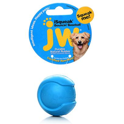 Jw Pet Company Presents Jw Pet Company (Jw) Isqueak Bouncin Baseball Large. The New Isqueak Funble Football and Isqueak Bouncin' Baseball are Squeaky Sporty Durable Rubber Balls. These Toys are Meant to be Tossed, Passed, Carried, and Chewed! Available in Fun Bright Colors for Canine Athletes of all Sizes. Small [20307]