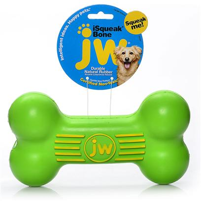 Jw Pet Company Presents Jw Pet Company (Jw) Isqueak Bone Large. Long-Lasting Toy is Fashioned of Thick Walled Heavy Duty Rubber and Finished with a Long-Winded Squeaker. Great Toy for the Dog who Chews and Rips Apart Other Toys. [20310]