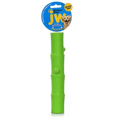 Jw Pet Company Presents Lucky Bamboo Stick Rubber Toy Large. The Tough by Nature Lucky Bamboo Stick Small is a Durable, Natural Rubber Dog Toy. It is the Perfect Shape for Throwing, Fetching, and Carrying. A Solid Center Makes this Stick Capable of Standing Up to Endless Games and Intense Chewers. The Lucky Bamboo Stick has Open Ends that can be Stuffed with Treats or Peanut Butter. With Infused Vanilla Scent and Realistic Detailing, Dogs who Play with this Tough Toy are Truly Lucky! [20322]