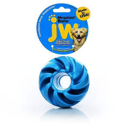 Jw Pet Company Presents Megalast Ball Toy. The Megalast Balls are Tough New Toys from Jw Pet Made of our Durable Megalastomer. Infused with Vanilla, the Megalast Balls are Available in 3 Translucent Bright Colors and in 4 Fun Geometric Styles! These Buoyant, Floating Toys are Mega Strong, Mega Bouncy, and Mega Fun! The Megalast Toys are Made in the Usa in an Eco-Friendly Facility that Utilizes Solar Power. All Megalast Toys are 100% Recyclable. Additional Megalast Selling Points Balls &amp; Bones are Made in the U.S. A. Balls &amp; Bones are 100% Recyclable Balls &amp; Bones are Made in a &quot;Green&quot; Eco-Friendly Facility that Utilizes Solar Power Material Floats, Bounces &amp; Holds Up to Tough Play Small [20325]