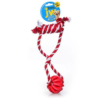 Jw Pet Company Presents Megalast Ball with Rope Medium. The Megalast Balls are Tough New Toys from Jw Pet Made of our Durable Megalastomer. Infused with Vanilla, the Megalast Balls are Available in 3 Translucent Bright Colors and in 4 Fun Geometric Styles! These Buoyant, Floating Toys are Mega Strong, Mega Bouncy, and Mega Fun! The Megalast Toys are Made in the Usa in an Eco-Friendly Facility that Utilizes Solar Power. All Megalast Toys are 100% Recyclable. The Megalast Ball with Rope Single is a Colorfully Twisted Rope Loop with a Wrapped Rope Handle on One End and a Megalast Ball Medium on the Other. Medium [20330]