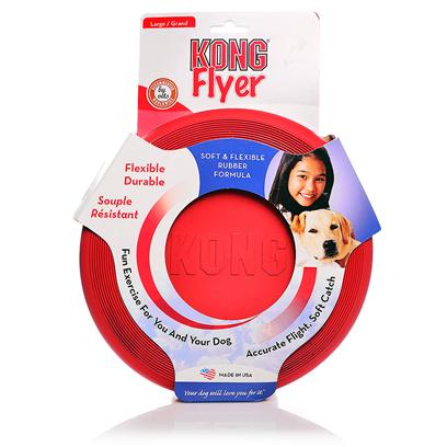 Kong Company Presents Kong Flyer Dog Toy Small. With the Kong Flyer, you DonT Need a Good Arm to have Great Catch and Fetch Games with your Dog. This Light Disc is Easy to Use and can be Accurately Thrown, Even by Those who have Never Used One. Composed of Kong Natural Rubber, this Disc is the Perfect Toy to Give your Dog some Exercise and Engage their Motor Skills. This Disc is Soft and Flexible, Making it Both Durable and Fun to Chew Once your Dog has Retrieved It. The Rubber is Safe for your DogS Teeth and Gums and there are Thin Ridges that will Actually Massage their Gums, Promoting Dental Health. [20361]