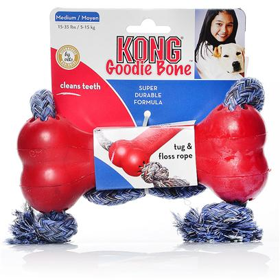 Buy Kong Bone with Rope for Dogs products including Kong Bone with Rope Medium Dogs 15-35lbs, Kong Goodie Bone with Rope X-Small - 4lbs (only Toy/Teacup Breeds) Category: Toys Price: from $4.99
