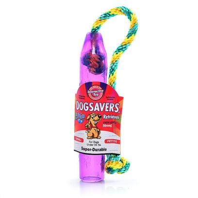 Mammoth Presents Dogsavers Retriever Small 7'. Made of Super Durable Synthetic Rubber, Perfect for Chomping and Interactive Play. Packaged in 5 Assorted Flavors (Grape, Pineapple, Lime &amp; Orange). [20394]