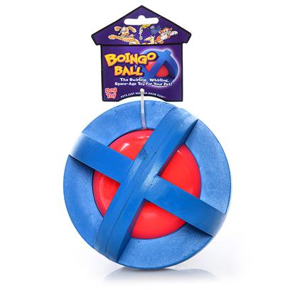 Multipet Presents Multipet Boingo Ball Mp 5'. The Heavy-Duty Boingo Ball is a Plastic Sphere with Rubber Grippers. Your Dog can Play out in the Yard with this Weather-Resistant Toy. [20403]