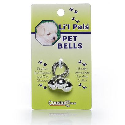 Coastal Presents Li'l Pals Silver Pet Bells 3cd Puppies &amp; Toy Breeds. Li'l Pals Offers a Complete Range of Quality Products for Tiny Pups. Perfectly Proportioned to Meet the Needs of Petite Pets. [20434]