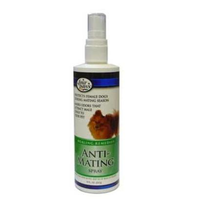 Four Paws Presents Anti-Mating Spray 8oz. Four Paws Anti-Mating Spray is Protection for Female Dogs During the Mating Season. This Spray is Specially Formulated to Mask Odors that Attract Male Dogs to your Pet. 5 Oz. (227g) 5 Oz. [20452]