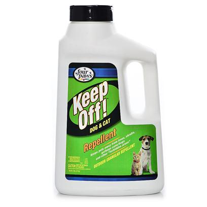 Four Paws Presents Keep Off! Outdoor Granular Repellent 2lb. Four Paws Keep off Repellent will Repel Dogs and Cats for Up to 24 Hours when Applied Daily. Outdoor Granular Repellent, 2 Lb. Comes in a Durable, Jug Handled, Plastic Container 2 Lbs. [20456]