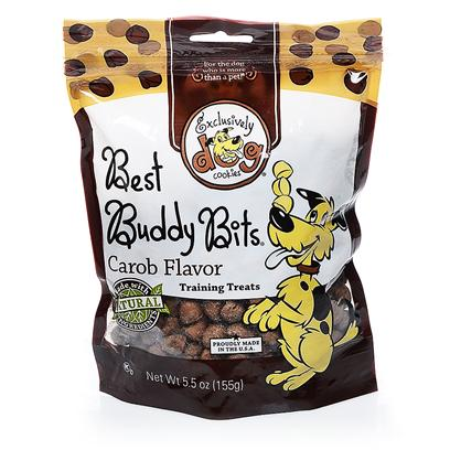 Exclusively Pets Presents Carob Chip Buddy Bits 5.5oz. Don't Let these Little Cookies Fool You. They're Great &quot;Take Anywhere&quot; Dog Treats. Customers will Find them Ideal for Training, Road Trips, Long Walks, Dogs that have Difficulty Eating Larger Treats or just because their Dog is their Best Buddy! Mini Carob Chip Bits that Look and Taste Like Chocolate. Great Tasting and Safe for Dogs. Made with Human-Grade and Kosher Ingredients. Free of Animal Proteins, Parts, Bi-Products and Fillers. 5.5oz Package [20552]