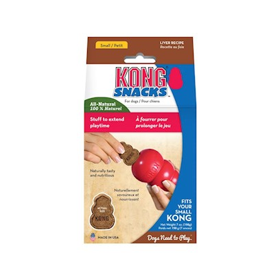 Kong Company Presents Liver Snaps-for Small Kong Dog Toys Small/Petit Dogs-7oz. Kong Mini Liver Stuff N Snaps are Made with High Quality Natural Ingredients. These Tantalizing Snaps can be Used Anytime but are Specially Shaped and Sized to Fit your Dog's Kong Toy. [20597]