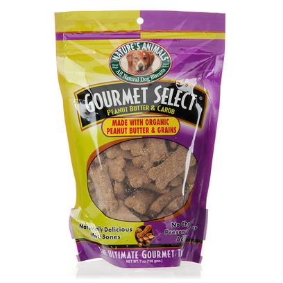 Nature's Animals Presents Gourmet Select Organic Peanut Butter and Carob-Mini Bone Shaped Cookies Mini Butter/Carob-7oz Bag. Give a Dog a Healthy, Organic Bone as Far as Dog Treats Go, these Bone-Shaped Snacks from NatureS Animals are as Natural as you can Get. The Cookies are Made with under Ten Whole Ingredients that you will Likely Recognize from your Own Cupboard. Ingredients are Grown Organically, and are not Crammed with Sugars, Chemical Preservatives, or Fillers. And if your Dog Loves a Scoop of Peanut Butter, then sheLl Go Gaga for this Flavor Yummy Peanut Butter Carob. You may Even be Tempted to Give One a Nibble Yourself! [20614]