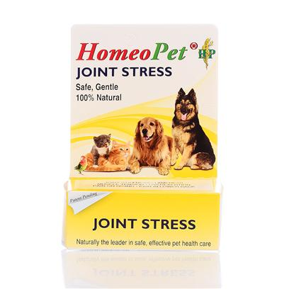 Homeopet Presents Homeopet Joint Stress Drops. Homeopathic Ingredients in a Water/Alc Base. Provides Maximum Support for Restoring Healthy Joint Function and Stimulating Cartilage Regeneration,Fast Pain Relief,Reduction of Inflammation,Improved Mobility Give 3 Doses Daily in Mouth or in Water by Weight. Safe for all Dogs,Puppies,Cats,Kittens,Birds,Rabbits,Hamsters,Ferrets,Pot Bellied Pigs. [20717]