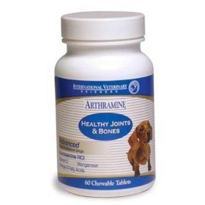 International Veterinary Presents Arthramine Tablets-Small and Medium Dogs 60 Chewable Tabs. Arthramine Maximum Performance High Levels of Glucosamine, Chondroitin, Msm, and More [20732]