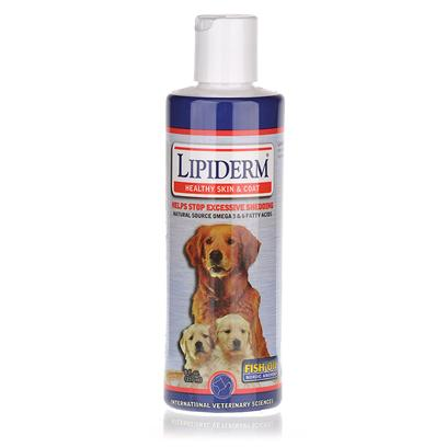 International Veterinary Presents Lipiderm 180 Capsules/Small &amp; Medium Dogs. Lipiderm for Healthy Skin and Coat, Helps Stop Excess Shedding, Itching, Scratching and Flea Dermatitis. Lipiderm Contains Micellized Omega 3 &amp; 6 Fatty Acids, Vitamins a &amp; E Plus Zinc. These Nutrients are Micellized Using a Unique Patented Process Enabling them to Absorb Rapidly through the Cell Membranes Increasing the Overall Effectiveness of the Product. Micellization Increases Ingredient Absorption as Much as Five Time Verses an Un-Micellized Product. Increased Absorption Leads to Increased Effectiveness. Lipiderm is Used by Millions of Pet Owners and is Veterinarian Recommended. Lipiderm is Available in a Great-Tasting Liquid or Easy-to-Administer Gel Capsules for Dogs and Cats. Lipiderm 8 Oz. [20738]