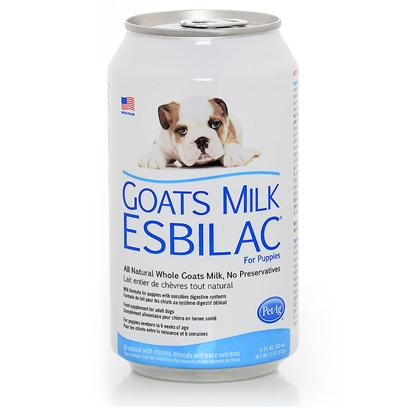 Petag Presents Goats Milk Esbilac for Puppies 11oz. Ready to Feed Liquid Milk Formula for Puppies with Sensitive Digestive Systems. Gme is a Complete Food Source for Orphaned or Rejected Puppies or Those Nursing, but Needing Supplemental Feeding. Also Recommended for Growing Puppies or Adult Dogs that are Stressed and Require a Source of Highly Digestible Nutrients. Gme is Formulated Specifically for Canines Providing a Protein, Carbohydrate and Fat Calorie Pattern Similar to Bitch's Milk. It is Fortified with Essential Amino Acids and Includes Arginine and Methionine. Gme is Prepared with Whole Goat Milk and the Liquid is a Ready-to-Feed Formula. To Purchase this Item, Click One of the Following 11 Oz [20762]