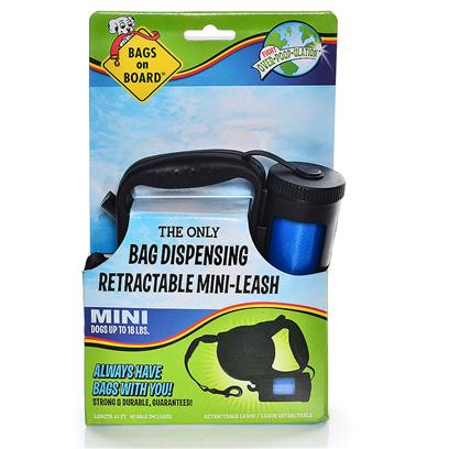 Buy Dog Leash with Bag Dispenser products including Doggie Doo Bags Biodegradable 30, Doggie Doo Bags Biodegradable 60, Bags on Board Retractable Leash Large/Black with 60, Bags on Board Retractable Leash Small &amp; Black with 48, Bottomsup Waste Bag Dispenser with 2 Rolls of (30 Each) Pet &amp; Dispenser-30 Category:Pickup Bags Price: from $2.99