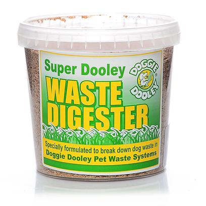 Huron/Hueter Toledo Presents Doggie Dooley Digester 16oz. Super Dooley Digester Powder Refill Packaged in a Handy Re-Sealable Plastic Tub. Each Tablespoon of this Super-Fast Digester Contains Bacterial and Enzyme Cultures that Double Every Twenty to Thirty Minutes and is Specially Formulated for Pet Waste. Harmless, Non-Toxic, Helps Control Pet Waste Odors and is the only Digester Powder Recommended for Use in the Doggie Dooley Pet Waste Disposal Systems. [20843]