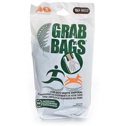 Van Ness Presents Grab Bag Dog Waste Pick-Up 12 Pack (40 Bags). Scented, Easy Tie Handles, Fits in Pocket, 40 Grab Bags Per Package 10&quot; X 6&quot; X 1 1/2&quot; [20863]
