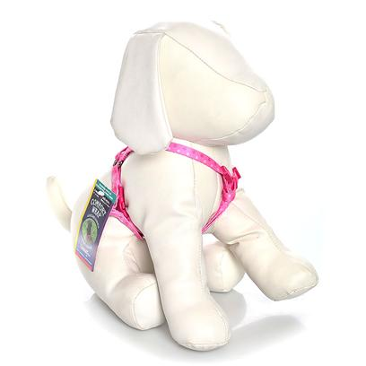 Coastal Presents C Nylon Adjustable Attire Harness 5/8' - Paw. The Comfort Wrap, Step in Style Harness is Super Easy to Get on and off your Pet! With Three Built in Adjustment Points, this Harness Features Metal Hardware at all Stress Points. Featuring a Vibrant, Colorfast Plaid Bones Print, this Harness Easily Adjusts 16&quot; Up to 24&quot; to Accommodate a Wide Variety Dog Breeds. To Put this Style of Harness on your Dog, Open the Harness and Lay it Flat. Assist Dog to Step into Harness, Pull Up Around Body and Buckle. Use Slide Adjustments for Final Fitting. 5/8&quot; X Adj. 16&quot;-24&quot; [20868]