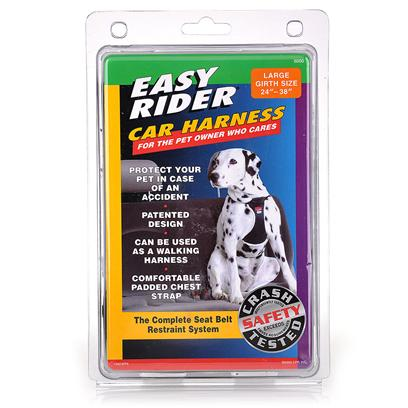 Coastal Presents Easy Rider Car Harness Small. A Safe, Easy-to-Use Harness that Connects to any Front or Rear Seatbelt. Keeps Pet Confined yet Comfortable. It Prevents a Pet from Being Thrown and Injured in Case of Short Stops or Accidents. [20880]