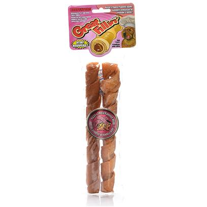 Beefeaters Presents Great Fillin all Natural Pork Roll with Meaty Filling 8' Beef-2 Pack. Irresistible, Tartar-Fighting Rawhide Combined with Mouthwatering Soft Filling it's Like Getting Two Treats in One! Crunchy Filled Rawhide Rolls have Easy-to-Chew Ground Rawhide Wrapped Around Delicious Filling. 8&quot; 2 Pc [20972]