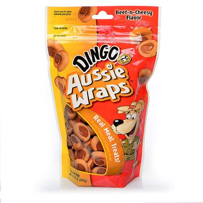 Buy Dingo Brand Treats &amp; Biscuits products including Aussie Wraps-Beef &amp; Cheese-8.5oz 8.5oz, Chewy Buns 2.5oz-2 Pack Category:Treats &amp; Biscuits Price: from $2.99