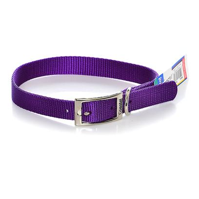Coastal Presents Nylon Collar-Purple 3/4' X 18'. This Collar Consists of 3/4&quot; Nylon and is Best Suited for Medium or Average Size Dogs. Coastal's High Quality Nylon is Specially Processed to Prevent Fraying and Increase the Strength. All Nylon Products are Carefully and Neatly Finished for Comfort, Appeal and Durability. [21144]