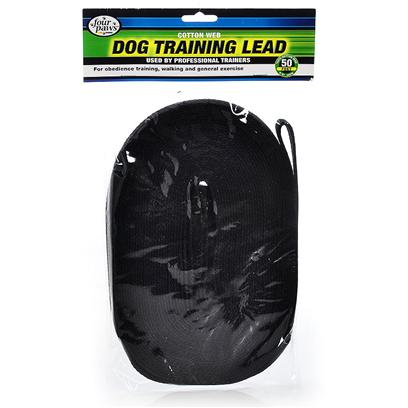 Four Paws Presents Cotton Web 5/8' Training Lead 50ft Black. Manufactured of 100% Natural Cotton, Four Paws Dog Training Leads are Preferred and Recommended by Professional Dog Handlers and Trainers. Features a Solid Bronze Swivel Snap for Extra Durability. 50 Ft. Red [21188]