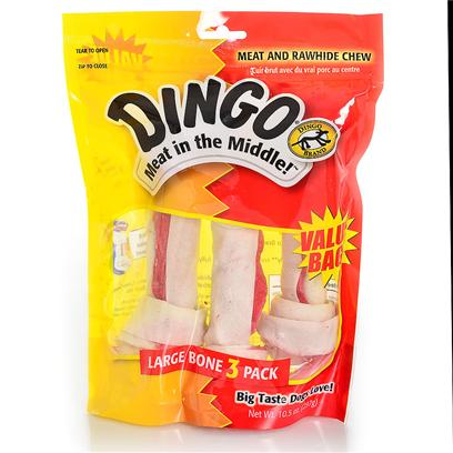 Dingo Brand Presents Dingo White Bone Value Bag 3 Pack. White Bone Value Pack - Medium 4 Count [21220]