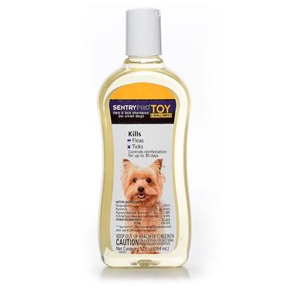 Sergeants Presents Sentry Flea &amp; Tick Toy Breed Shampoo 12oz. Sentry Flea and Tick Toy Breed Shampoo Kills Fleas, Ticks and Flea Eggs. This Shampoo is Specially Formulated for Toy Breed Dogs Giving them the Gentle Protection they Need. Prevents Reinfestation for Up to 30 Days. [21313]