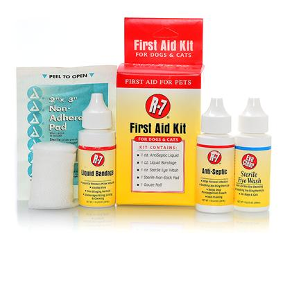 Gimborn Presents R-7 First Aid Kit 1oz Gimb. Combines Antiseptic Spray, Liquid Bandage, and Eye Wash for Ready to Use First Aid Care [21359]