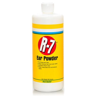 Rich Health Presents R-7 Professional Ear Mite Powder 96gm R.H R7. Helps Remove Excess Hair and Debris from the Ear Canal Prior to Using Ear Cleaner. Special Rosin Grip Helps to Remove Clogs [21385]