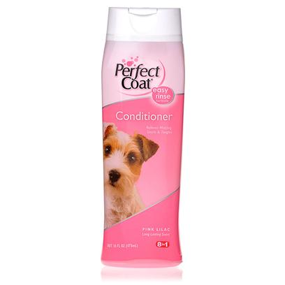 8 in 1 Presents Perfect Coat Conditioning Rinse 16oz. Ends Snarls , Tangles and Matting Problems. Premium Conditioning Ingredients Leave Coat Soft and Shiny. Long Lasting Pink Lilac Fragrance. [21489]