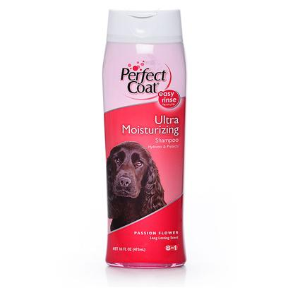 8 in 1 Presents Perfect Coat Select Moisturizing Shampoo 16oz 8in1. Hydrates, Protects and Restores Moisture to Dry Skin and Coat. With Microencapsulated Conditioning Agents and Chamomile. [21500]