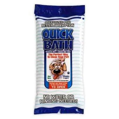 International Veterinary Presents Quick Bath Clip Strip for Dogs 12pc Invet Dog. Quick Bath Pre-Moistened Pet Cleansing Wipes for Dogs Removes Dirt and Debris. Helps Get Rid of Bacteria and Eliminate Odors as it Cleans and Conditions the Skin and Coat. Dogs will be Left with a Clean, Shiny and Fresh Smelling Hair/Coat. Quick Bath Contains Micellized Vitamin a &amp; E Plus Aloe Vera. Vitamin a &amp; E are Micellized Using a Unique Patented Process that Enables Fat-Soluble Nutrients to Absorb Rapidly through the Cell Membranes Increasing the Overall Effectiveness of the Product. Micellization Increases Ingredient Absorption as Much as Five Time Verses an Un-Micellized Product. Increased Absorption Leads to Increased Effectiveness. Quick Bath Pet Cleansing Wipes Come in Formulas for Dog and Cats, 5 and 10 Packs and Wipes are Extra Thick and Heavy Duty. Quick Bath was the First Pet Wipe on the Market and is Alcohol and Lanolin Free. Quick Bath is from the Makers of Lipiderm. Quick Bath Dog, Pet Cleansing Wipes, 5 Wipes Per Pack [21519]
