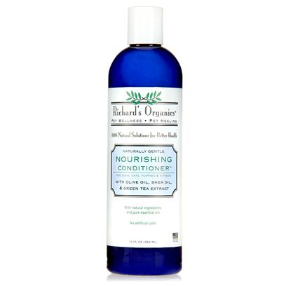 Synergy Labs Presents Richards Organics Nourishing Conditioner 12oz Sny Ro. Richard's Organics Nourishing Conditioner is a 100% Naturally Gentle Formula Made with Olive Oil, Shea Oil and Green Tea Extract to Repair and Protect the Coat Against Environmental Damage. Rich Emollients &amp; Antioxidants Nourish Skin and Leave the Coat Healthy and Shiny. [21542]