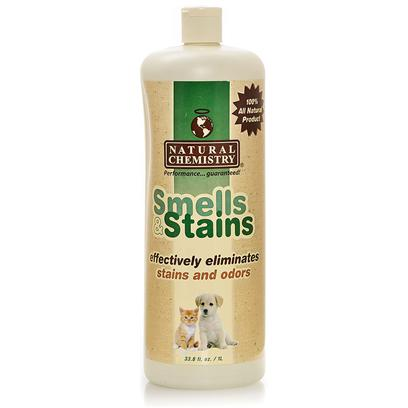 Natural Chemistry Presents Natural Chemistry Stain/Odor Remover 16.9oz. Eliminates Stains and Odors Permanently. All Natural Enzyme Formulation Eliminates Pet Stains and Accidents, Food and Beverage Spills, Urine, Blood Stains, Feces and Vomit. It is Easy to Use and Unconditionally Guaranteed! [21559]