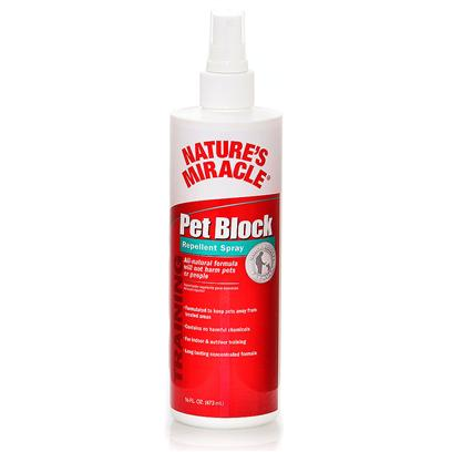 Nature's Miracle Presents Nature's Miracle Pet Block Repellent Spray Nmir Black Detrrnt Spry 8oz. Nature's Miracle Pet Block Detrrent Spray [21575]