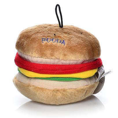 Petmate Presents Plush Soft Bite Mega Burger Dog Toy (Blue) Booda. Soft to Bite, yet Tough and Durable Made from Washable, Synthetic Fabrics Each Design Features Bright Individual Colors [21611]