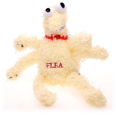 Multipet Presents Multipet Plush Flea 12'. Now your Dog can do the Biting with this Plush Flea Toy! It is the Perfect Way for your Pup to Get Revenge on Those Annoying Pests! This Toy is a Soft, Silky Plush Material that is Great for Teething Puppies and Dogs of all Ages as a Chew Toy. The Plush Flea has 6 Legs Perfect for Shaking, and Tug Wars with your Pet. Not only will Pet Parents Enjoy a Game of Tug O War with their Pet, but this Silly Toy has a Squeaker Inside that will Keep your Pet Occupied for Hours. The Squeaker Makes Silly Noises that your Pet canT Resist. [21627]