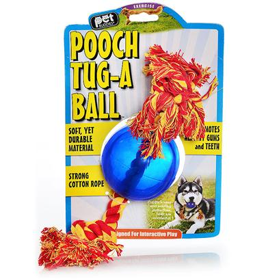 Kollercraft Presents Pooch Tug-a-Ball Translucent Blue with Yellow-Orange Cotton Rop Kol. Meet Pooch Tug-a Ball. Made from a Unique One-of-a-Kind Material, this Soft but Durable Toy with Super Strong Cotton Rope Promotes Healthy Gums and Teeth. Fling it, Throw it, this Interactive Toy is Ideal for Toss and Fetch. Your Dog will have Great F [21680]