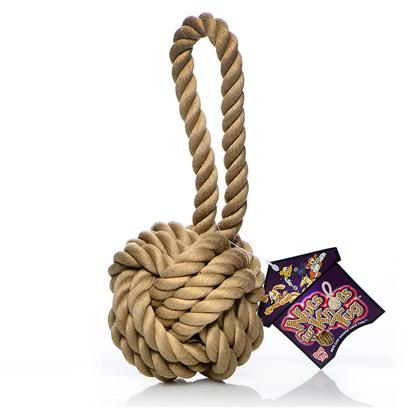 Multipet Presents Multipet Nuts for Knots with Tug 6'. Goodness, Gracious - Great Ball of Rope! ItS a Rope... ItS a Ball... ItS a Rope Ball! Your Dog will Go Wild over this Two-in-One Toy thatS Perfect for Tossing and Tugging. ItS an Ideal Toy for Interactive Play with a Rope Loop that you can Hold Onto while your Dog Pulls. The Thick Woven Ball is Super Durable and Built to Last for Hours of Indoor or Outdoor Fun that will Keep your Pal Active, Excited, and Engaged. [21689]