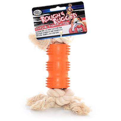 Four Paws Presents Rough &amp; Rugged Rubber Dental Rope Small Fp Toy (Sm). Part of a Complete Line of Unique and Traditional Style Toys Made with the Highest Grade of Rubber and Filled with Unique Polymers to Give Extra Bounce. Small [21703]