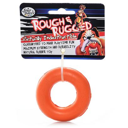 Four Paws Presents Rough &amp; Rugged Rubber Ring Fp Toy 7'. Part of a Complete Line of Unique and Traditional Style Toys Made with the Highest Grade of Rubber and Filled with Unique Polymers to Give Extra Bounce. Available in 2 Sizes. 7&quot; [21713]